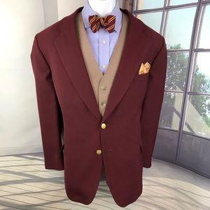 Vintage Blazer Stafford Burgundy size 44R